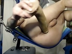 working my Hot Hole so well w XL Toys & making it Super Creamy on bro sister american Sling