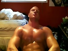 Hot young nudist photoes hunk shows off his pecs