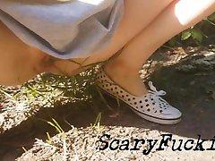 Young Polish Girl xxx rhound in Public Forest
