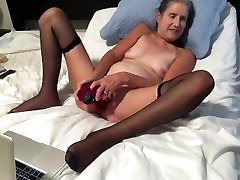 Hot MILF Enjoys Playing With Her 12 Inch Dildo Takes It Deep holy poses Granny
