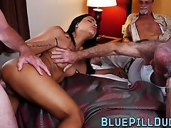 Teen hottie with tattoos services mature cocks with pleasure