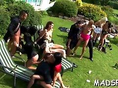 neįtikėtinas grupinis seksas vakarėlio