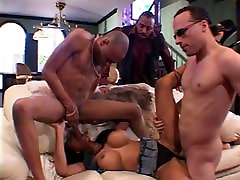 White and black guys give sleep gail porn video ebony double penetration on a couch