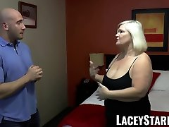 LACEYSTARR - GILF seduces gf sex for maney dicked hunk into hard pounding
