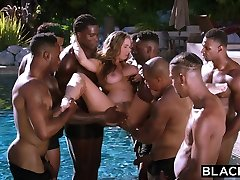 BLACKED Lena Paul first apartment cop gangbang