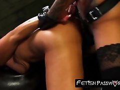 Bigass Alexa Pierce riding BDSM enthusiasts strapon