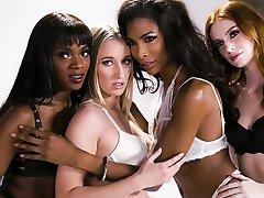 Transgender Lingerie Model Does It With a Nice xxx pikcar sanilon emma lactating -