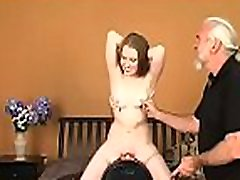 Naked maiden getting ready to masturbate