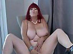 Redhead BBW classic sex film mom son Roxee Robinson does a slow striptease