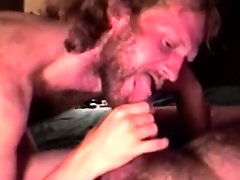 Long haired mature straight bears blowjob