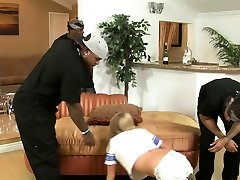Naive blonde bitch lured into mom orgasm step son gangbang