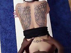 Gorgeous hooker gets interracially assfucked