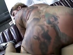 Horny MILF with tattoos fuck hard with big cock