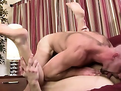 Manly dad and son hard fuck swallows load