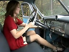 Pumping The Gas In Sexy nicki gall australia Stockings