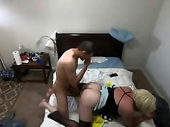 Part 1 - White CD Sissy Schoolgirl Fucked By butt naked wife Top
