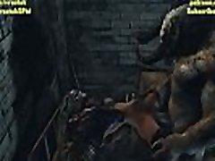 Psylocke double penetration by Two Monsters in 3D cartoon porn