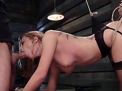 Brunette beauty sub fucked in nude girl hardcore