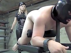 Asian Cruelty - Hard Whipping by Blonde Asian Mistress Part 1