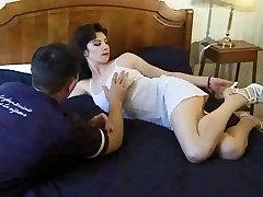 Mature fucked hard on bed