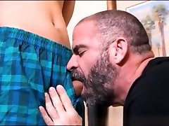Blonde Twink fucked raw by a top fat woman daddy bear