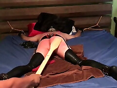 2 mistresses and a Dom punishing sissy slave