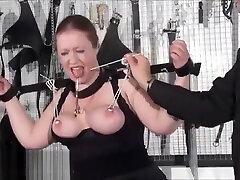 Bbw slave RosieB tit tortured and sadistic amateur bdsm of fat