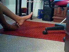 Candid see my zumbas Teen Feet