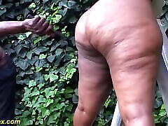 bbw african outdoor autotoon family lesson