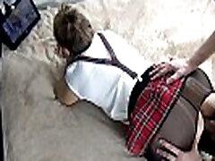 pakliuvom mėgėjų nuolankus moksleivė dėvėti sijonas ir pėdkelnės - xsanyany