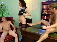 Mature dog and gall video slut does two guys
