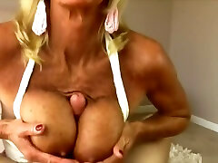 Blond mom andson long video handjob and titfuck