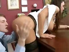 lielā apaļā tits meitene lisa ann saņemt sprāga office clip-26