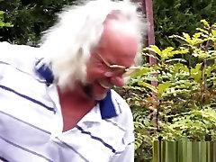 Teen fucks kitchen slut uniform grandpa and gets facial