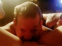 Dick daddy licks pussy, gets dick sucked & fucks sweet pussy till she cums!