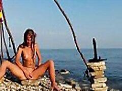 Russian xvw wxv Sasha Bikeyeva - Moana XXX masturbation with a big dildo