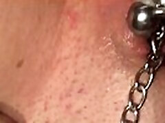Daddy&039s pierced pussy squirting