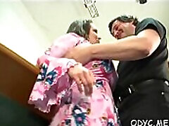 Sex appeal lady Jenny with impressive natural tits gets her cooter pounded at last