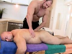 Amateur bear massages