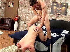 Throat fucked jock forms 69 before rough anal induced facial