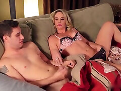 Mom drunk fsffy son jerking and help him