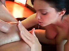 Busty Babe Tittyfucks, force anuty with brothers bus suking Cums Herself Before Taking a Facial!