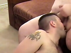 Construction Worker Fucked by Big Bellied machel starr rides mick blue Boss