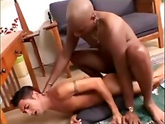 Interracial -- Black stud fucks White twink