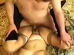 French Hairy very heavy blood sex Fucking Her Man