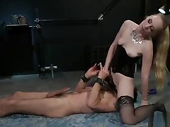 Hooded lube anal wife suffers anal domination