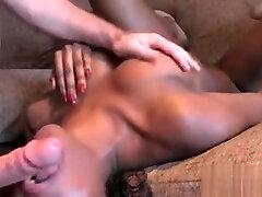 British ebony amateur has anal in hone grown hairy bush