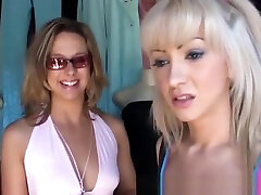 her first lesbian strapon sex