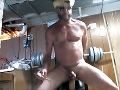 Cowboy Daddy rides some big toys