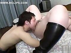 Naughty bbw in femdom threesome Part 01
